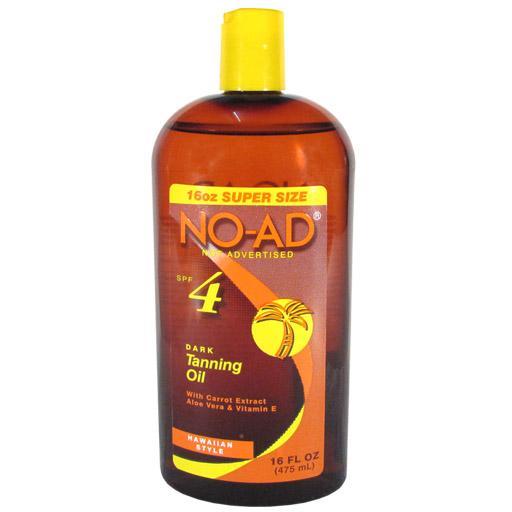 NO-AD Dark Tanning Oil spf 4 (475ml)