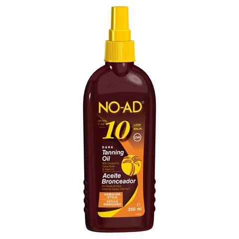 NO-AD Dark Tanning Oil spf 10 (250ml)